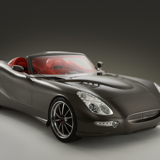 The car seems inspired by the Jaguar E-Type at the front