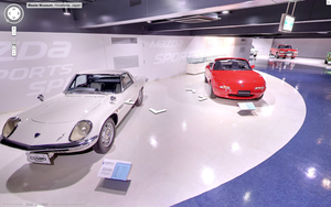 The museum has examples of Mazda's important models like the Cosmo and MX-5
