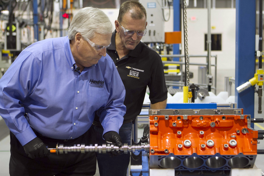 Hendrick was supervised along the way during the engine building process