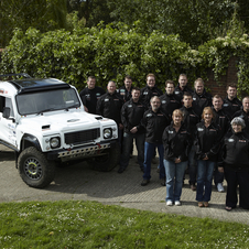 The team is made of 31 wounded UK soldiers who will enter four trucks