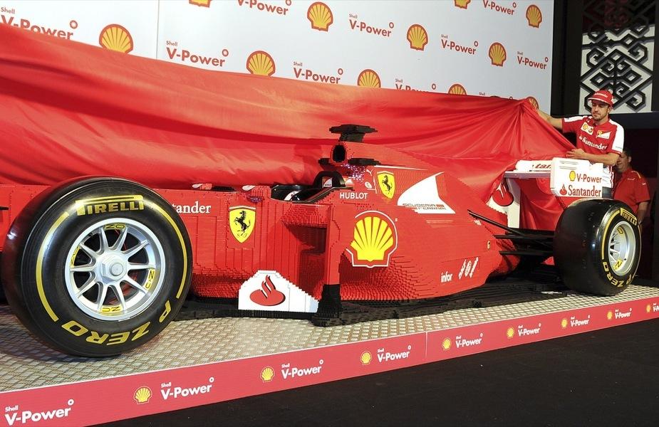 Ferrari Unveils Full Scale Lego F150th In Australia