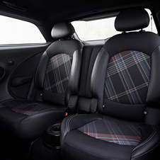 The Chili package adds fabric and leather seats