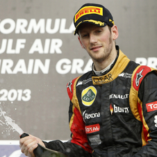 Grosjean scored his first podium of the year in Bahrain