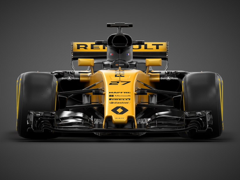 Rear wing of the RS17 has been re-shaped and at the front it also gets the same thumb-tip nose design