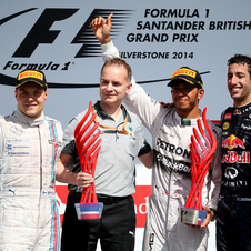 Bottas and Ricciardo took second and third place in Silverstone