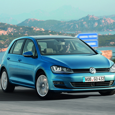 The seventh generation Golf is the first VW model to be built under the MQB platform