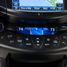 Dual-zone climate control is standard on the EV
