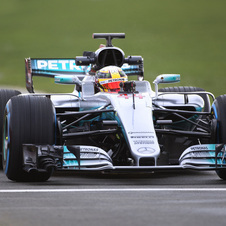 Compared to other F1 cars revealed so far the new Mercedes W08 features a different approach to the front nose