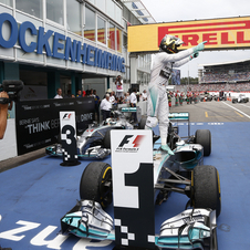 Rosberg conquered his fourth win of the season