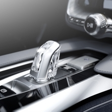 The gearshift is made from crystal
