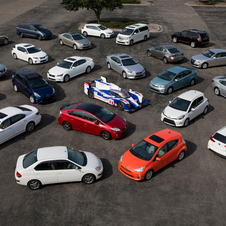 Toyota showed all of its hybrids from all over the world together in one place at once for the first time