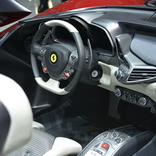 The car borrows most of the 458's interior