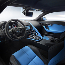 The interior of the vehicle receives the colours of Team Sky