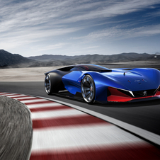 The single-seater concept is equipped with a 271hp petrol engine combined with two electric motors