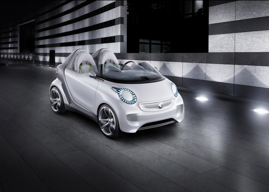 Throughout the last three years smart launched five concepts which are the design basis of the new fortwo and forfour
