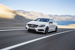 The A45 AMG will be revealed at the Geneva Motor Show