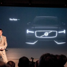 The front shows the T-shaped running lights from the Concept C