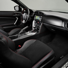 The seats get leather and Alcantara coverings