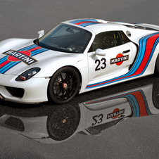That could mean a Porsche race car in the Martini livery soon
