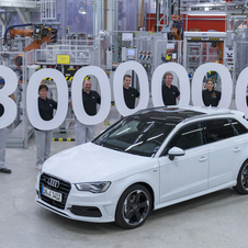 The 3 millionth car was a white A3 Sportback 2.0 TDI