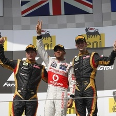 The Lotus team jumped ahead of Ferrari in constructors' points after the Hungarian Grand Prix