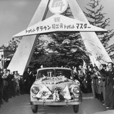 1955- Toyota Toyopet Crown and Crown Deluxe hits Japanese market