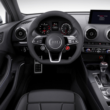 Detalhe do interior do Audi A3 clubsport quattro
