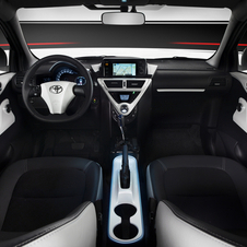 The interior is unique to the iQ EV