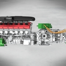 The V12 HY-KERS uses two electric motors - one to boost power the other to run engine auxillary functions