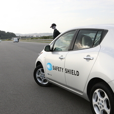 The Leaf is able to avoid accidents at normal driving speeds