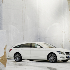 The car is still in development but would have the sloping rear from the CLS Shooting Brake