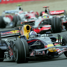 David Coulthard qualified 9th and finished 9th in the 2008 Franch Grand Prix at Magny-Cours