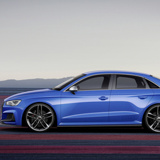 The A3 clubsport quattro gets a blue paint and a heavily modified bumper