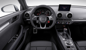 Detail from the interior of the Audi A3 clubsport quattro
