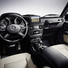 The new G-Class showing its infotainment screen and new instrument cluster