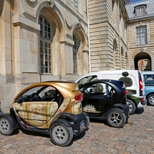 One Twizy has been specially decorated to look like a carriage