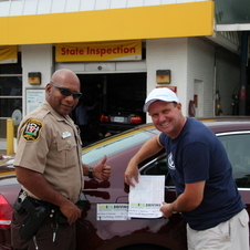 A Virginia Sheriff then certified the mileage at the end