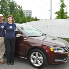 The Taylors drove the car to the Volkswagen plant in Chattanooga, Tennessee, after the trip