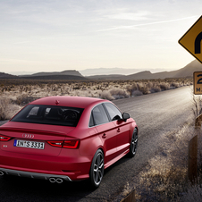 The S3 gets a spoiler and body upgrades over the standard car