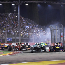 This was Hamilton's second win in Singapore