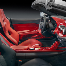 The cabin was coated asymmetrically with the driver's side in red, while the passenger side in black