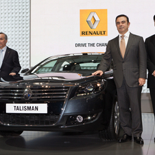 Renault CEO Carlos Ghosn was also on hand for the reveal