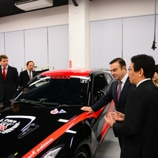 Carlos Ghosn was on hand to open the new Nismo workshop