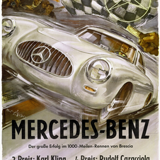 Here is a period advertisement from 1952 showing the performance of Kling and Caracciola