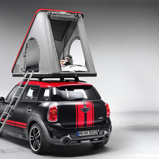 Mini Offering Camper and Tent for Cooper