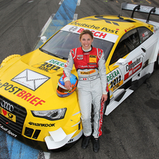 Rahel Frey with the new A5 DTM