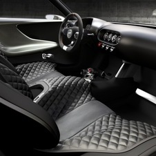 The seats are one expanse of quilted leather