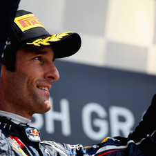 Webber is currently second in drivers' points between Alonso and Vettel