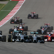 Daniel Ricciardo completed the podium in Austin beating the two Williams