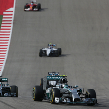 Mercedes got another one-two victory in the US